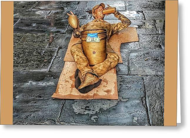 Nola Street Art Alive  Greeting Card