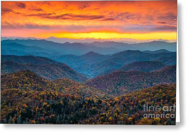 North Carolina Blue Ridge Parkway Greeting Card
