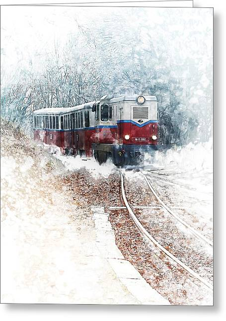 Northern European Train Greeting Card