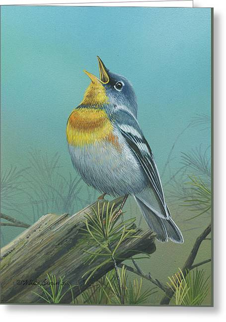 Northern Parula  Greeting Card