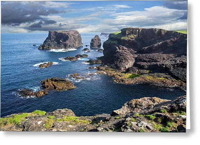 Northmavine Coast, Shetland Isles Greeting Card