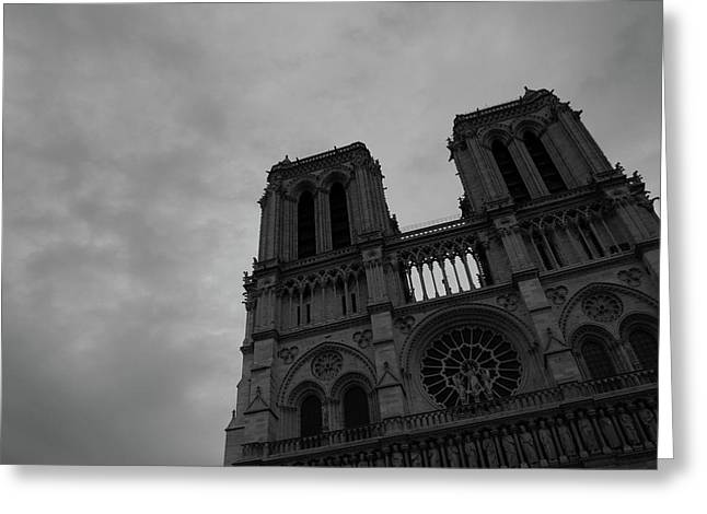 Greeting Card featuring the photograph Notre Dame Cathedral by Edward Lee