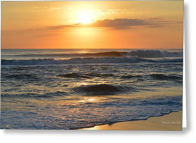Greeting Card featuring the photograph November 3, 2018 Sunrise by Barbara Ann Bell