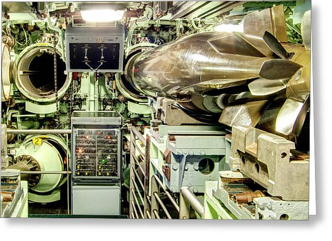 Nuclear Submarine Torpedo Room Greeting Card