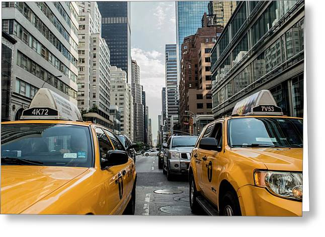 Ny Taxis Greeting Card