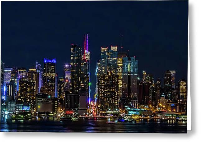 Greeting Card featuring the photograph Nyc At Night by Francisco Gomez