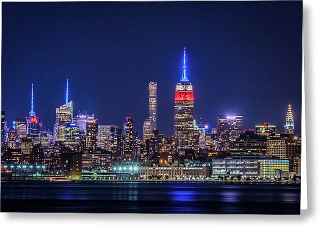 Nyc At The Blue Hour Greeting Card