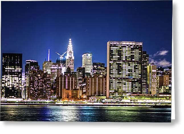 Greeting Card featuring the photograph Nyc Nightshine by Theodore Jones