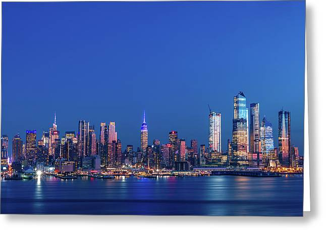 Greeting Card featuring the photograph Nyc The Blue Hour by Francisco Gomez