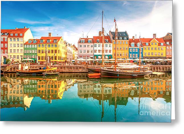 Nyhavn, Kopenhagen Greeting Card