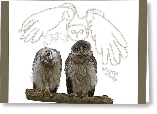 O Is For Owl Greeting Card
