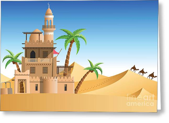 Oasis In The Desert Greeting Card