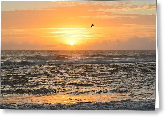 Greeting Card featuring the photograph Obx Sunrise 9/17/2018 by Barbara Ann Bell