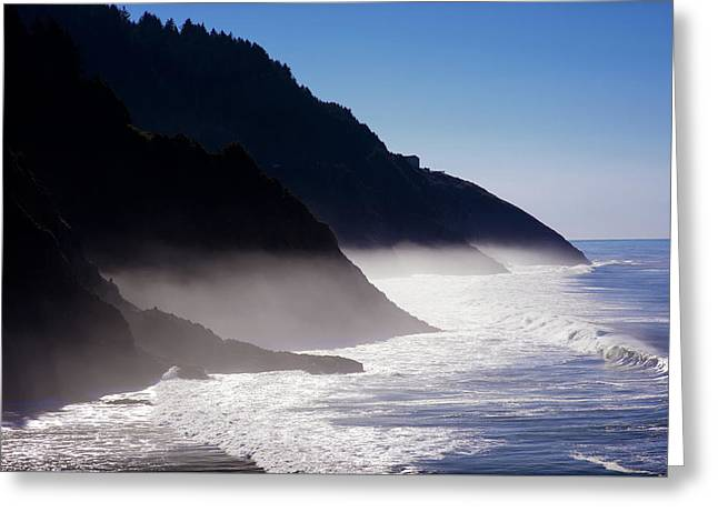 Greeting Card featuring the photograph Ocean Beach Siuslaw National Forest Oregon by Rospotte Photography