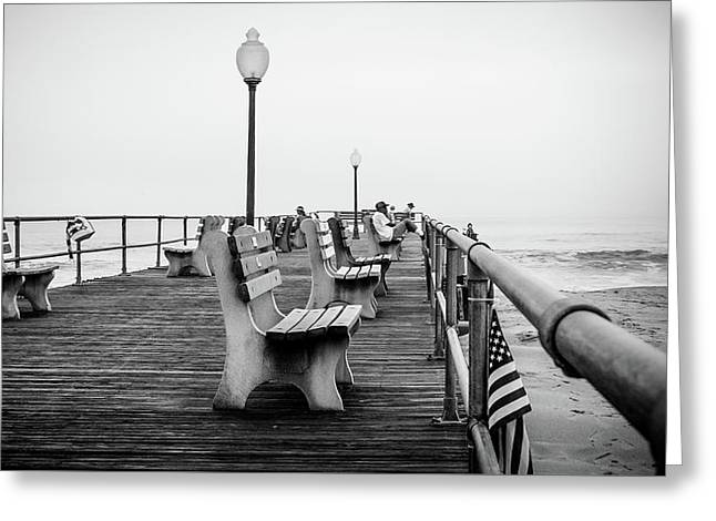 Greeting Card featuring the photograph Ocean Grove Pier 2 by Steve Stanger
