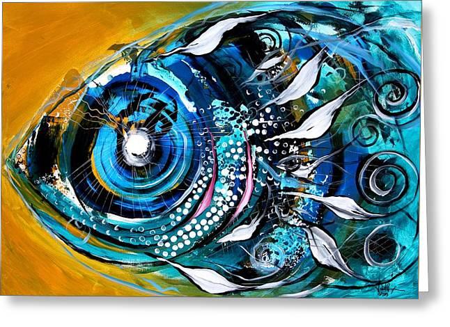 Ochre Fish Four Greeting Card