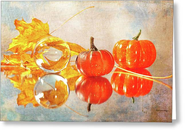 Greeting Card featuring the photograph October Reflections by Randi Grace Nilsberg