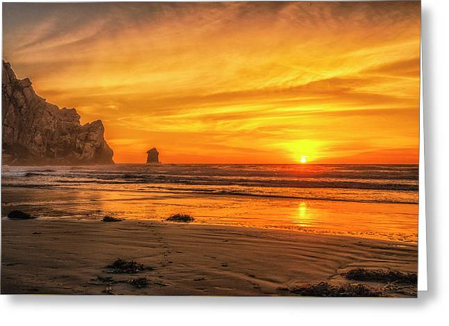 October Sunset Greeting Card by Fernando Margolles