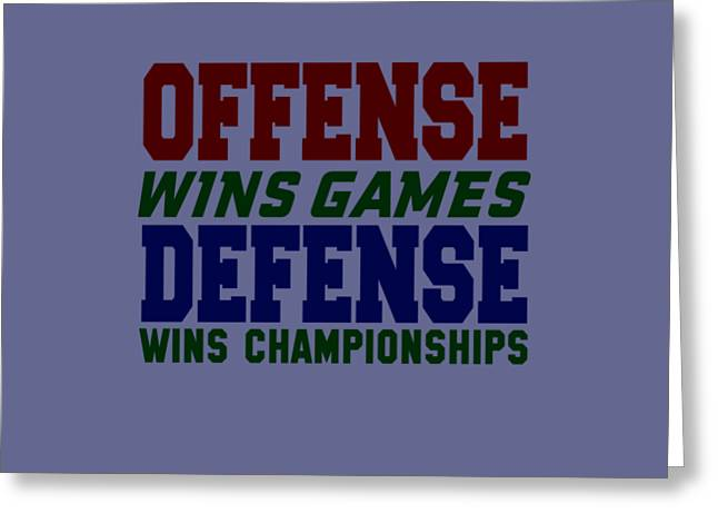 Offence Defense Greeting Card