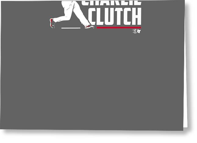 Officially Licensed Charlie Culberson Shirt - Charlie Clutch Greeting Card