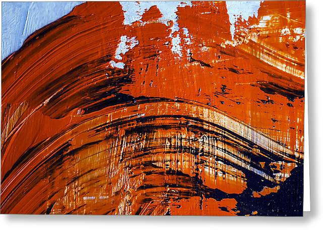Oil Painting Abstract Brushstrokes Greeting Card