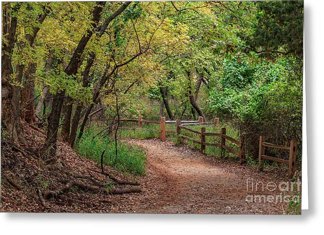 Oklahoma City's Martin Nature Park In Fall Color Greeting Card