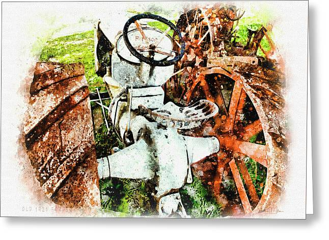 Old 1921 Fordson  Greeting Card