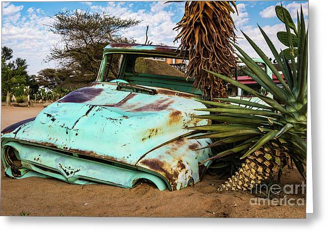 Old And Abandoned Car 2 In Solitaire, Namibia Greeting Card