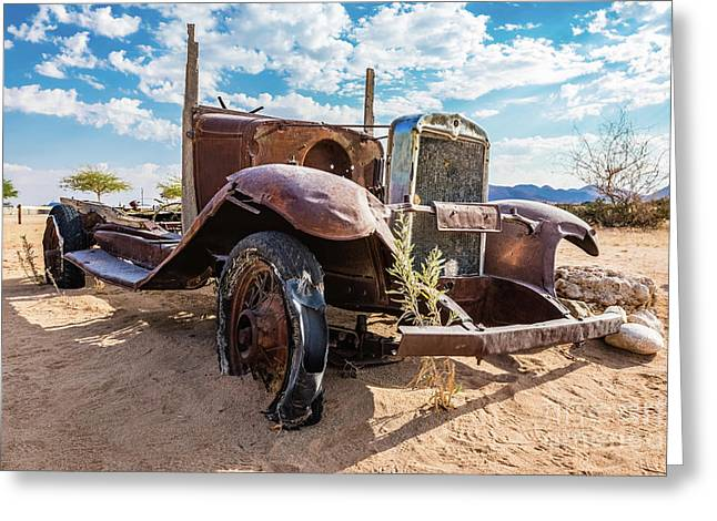 Old And Abandoned Car 3 In Solitaire, Namibia Greeting Card