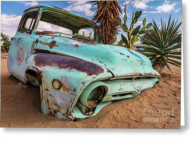 Old And Abandoned Car 7 In Solitaire, Namibia Greeting Card