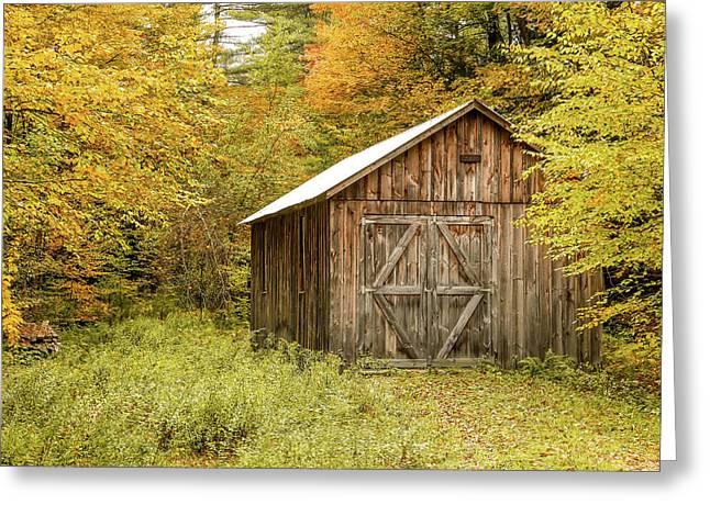 Old Barn New England Greeting Card