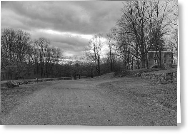 Old Canal Road - Waterloo Village Greeting Card