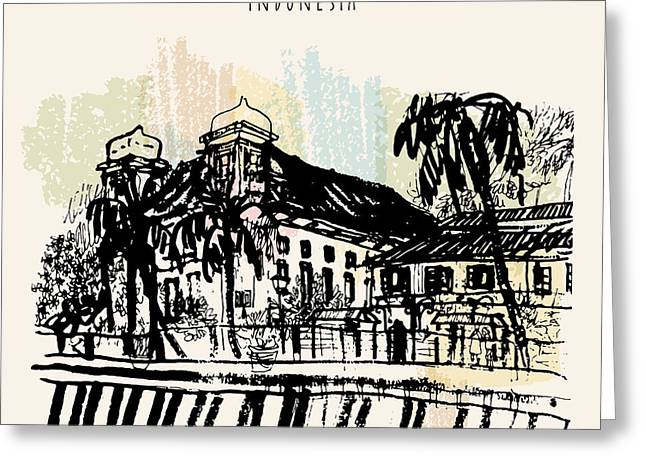 Old Church On The River Bank In Kota Greeting Card