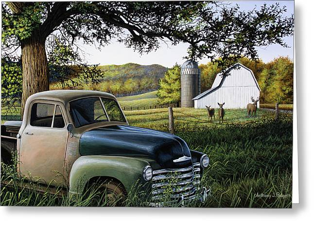 Old Farm Truck Greeting Card