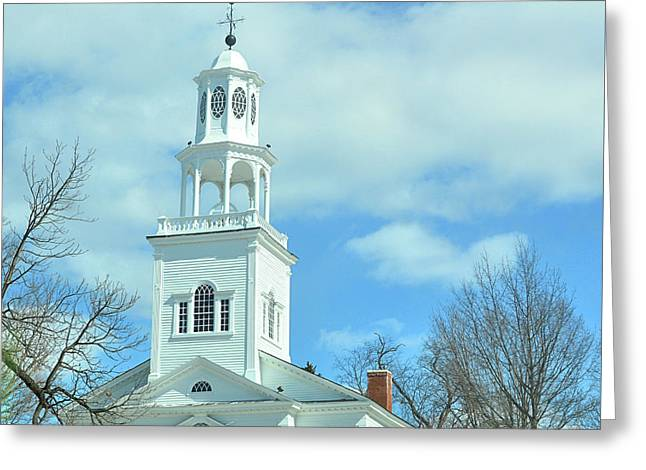 Old First Church Greeting Card by JAMART Photography