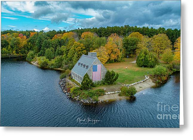 Greeting Card featuring the photograph Old Glory by Michael Hughes