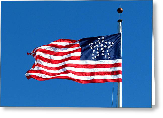 Old Glory Over Fort Pulaski Greeting Card