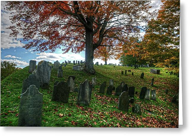 Old Hill Burying Ground In Autumn Greeting Card
