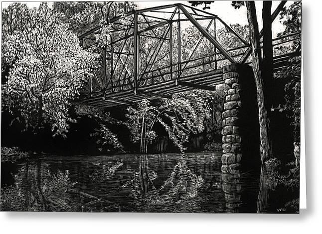 Old Iron Bridge Greeting Card