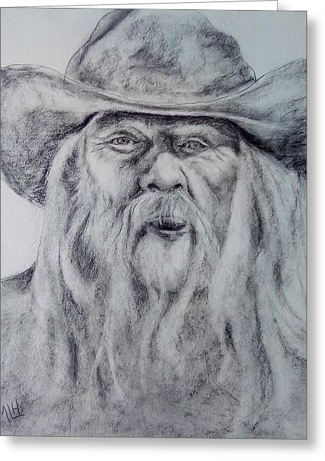 Old Man In A Hat  Greeting Card
