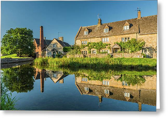 Old Mill, Lower Slaughter, Gloucestershire Greeting Card by David Ross