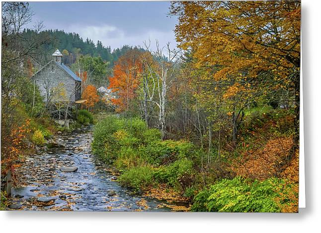 Old Mill New England Greeting Card