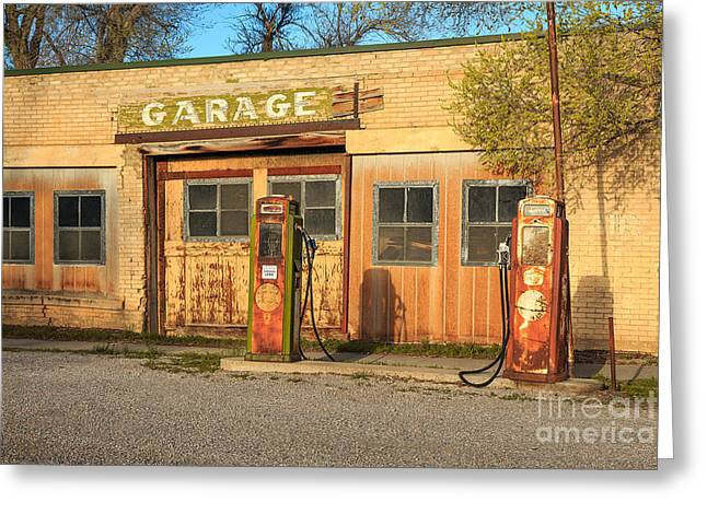 Old Service Station In Rural Utah, Usa Greeting Card