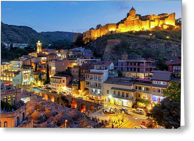 Greeting Card featuring the photograph Old Tbilisi by Fabrizio Troiani