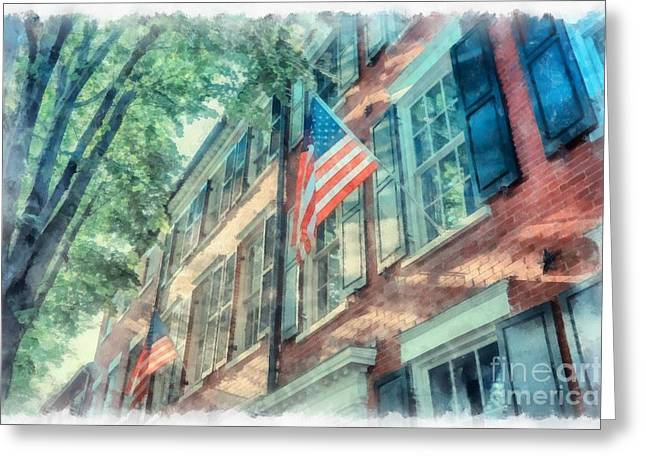 Old Town Alexandria Greeting Card