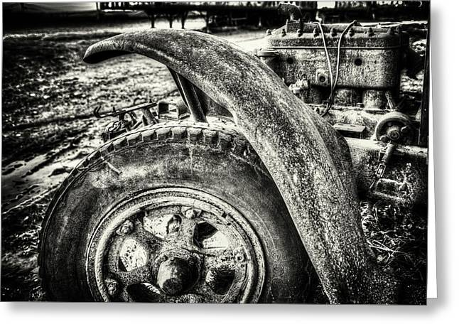 Old Truck Fender Greeting Card