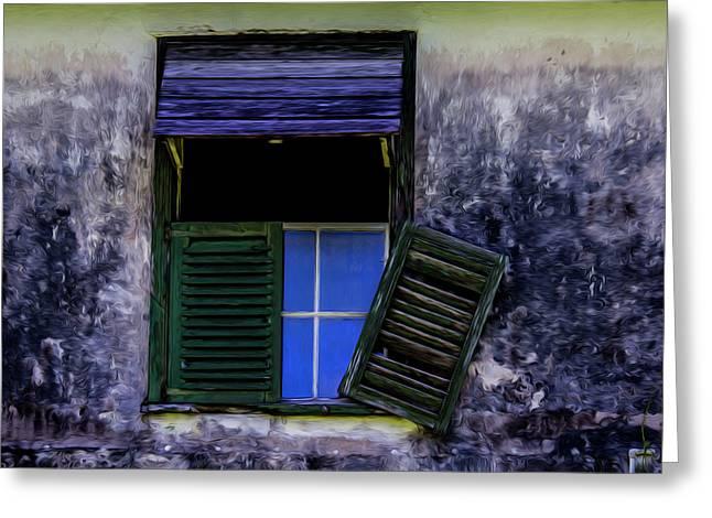 Old Window 2 Greeting Card