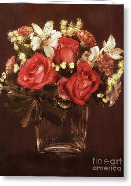 Old World Bouquet Greeting Card