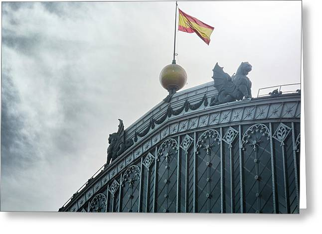 On Top Of The Puerta De Atocha Railway Station Greeting Card