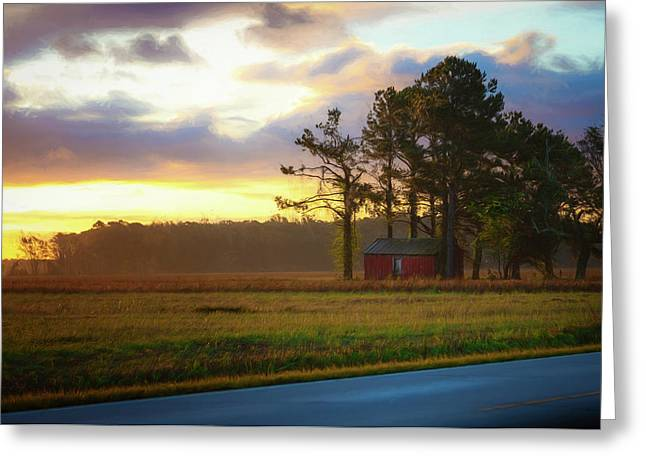 Greeting Card featuring the photograph Onc Open Road Sunrise by Cindy Lark Hartman